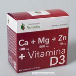 Ca + Mg + Zn + D3 (120 comprimate) Laboratoarele Remedia, image 1