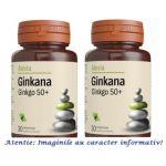 Ginkana Ginkgo 50+ Pachet 2 cutii cu 30 comprimate Alevia, image