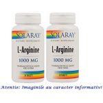 L Arginina 1000 mg Pachet 2 cutii cu 30 tablete Secom, image 1