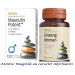 Masculin Potent 30 comprimate + Ginseng Siberian 30 comprimate Alevia, image 1