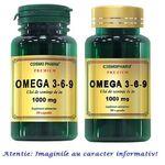 Omega 3-6-9 1000 mg Ulei de Seminte de In Pachet 60 capsule + 30 capsule CosmoPharm, image
