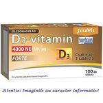 Vitamina D3 Forte 4000 UI 100 tablete JutaVit, image 1