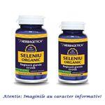 Seleniu Organic Pachet 60 capsule + 30 capsule Herbagetica, image 1