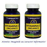 Vitamina C Organica Pachet 2 cutii cu 60 capsule Herbagetica, image 1