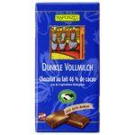 Ciocolata bio neagra cu lapte integral 46% cacao HIH 100g Rapunzel, image