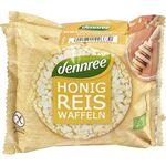 Vafe din orez cu miere FARA GLUTEN 96g Dennree, image