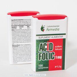 Acid Folic 100 comprimate Laboratoarele Remedia, image