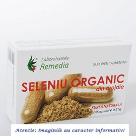 Seleniu Organic 30 capsule Laboratoarele Remedia, image