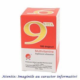 9 Vita Multivitamine 100 drajeuri Yong Kang Co & Co, image
