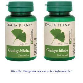 Ginkgo Biloba Pachet 2 cutii cu 60 comprimate  Dacia Plant, image