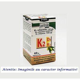 Vitamina K2 + D3 + K1 60 capsule JutaVit, image