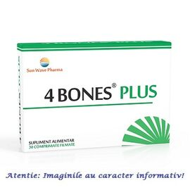 4 Bones Plus 30 comprimate Sun Wave Pharma, image