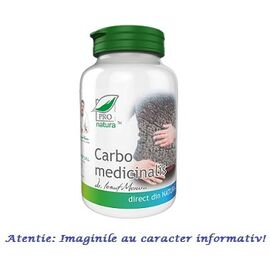 Carbo Medicinalis 60 capsule Pro Natura, image