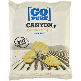 Chips-uri Canyon din cartofi bio cu sare de mare 125g Go Pure, image