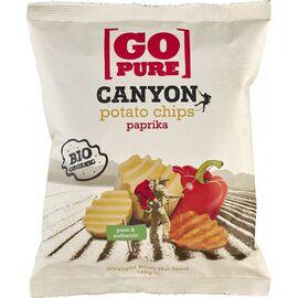 Chips-uri Canyon din cartofi cu ardei bio 125g Go Pure, image