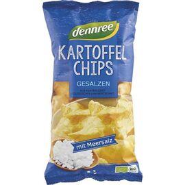 Chipsuri bio din cartofi cu sare 125g Dennree, image