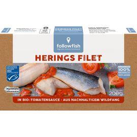 File de hering in sos te tomate bio 200g Followfish, image