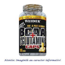 BCAA + L-Glutamine 180 capsule Weider, image
