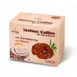 Cafea Cappuccino Instant cu Ganoderma si Stevie 10 plicuri Ayura, image