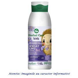 """Gel de Dus si Baie pentru Copii 3 în 1 """"Floare de In"""" Herbal Care Kids 400 ml Farmona, image"""