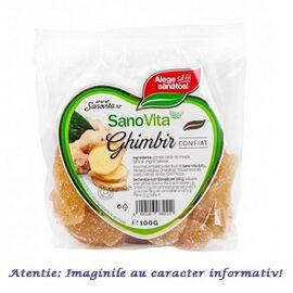 Ghimbir Confiat 100 g SanoVita, image