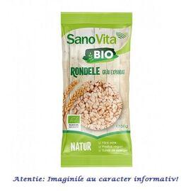 Rondele din Grau Expandat Bio 56 g SanoVita, image