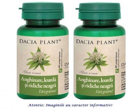 Anghinare, Leurda si Ridiche Neagra Pachet 2 cutii cu 60 comprimate Dacia Plant, image