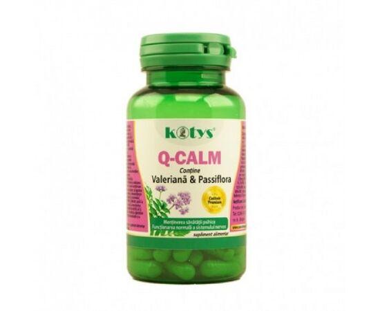 Q Calm cu Valeriana & Passiflora 60 capsule Kotys, image