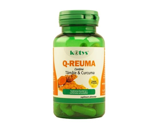 Q Reuma cu Tamaie & Curcuma 60 capsule Kotys, image