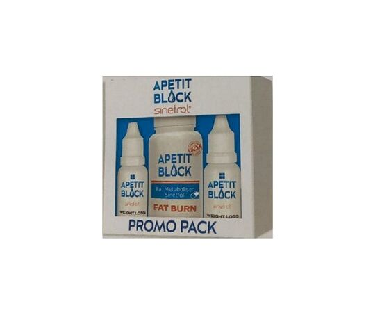Apetit Block Sinetrol Pachet 2 flacoane x 15 ml + 30 capsule Empire Expert Pharma, image